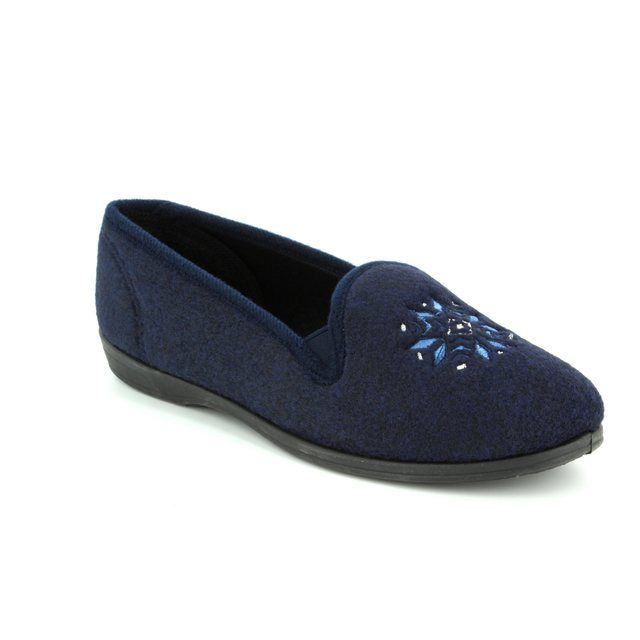 Clarks Slippers - Navy - 3041/84D MARSHA ROSE