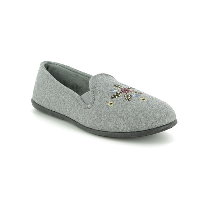 Clarks Slippers - Grey - 3846/94D MARSHA STAR