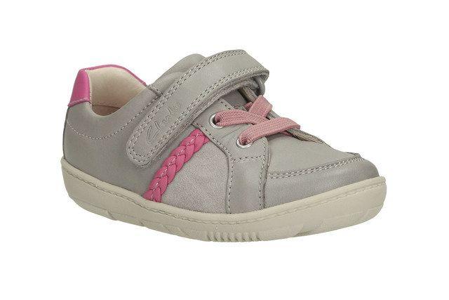 Clarks Maxi Amira Fst F Fit Light grey first shoes