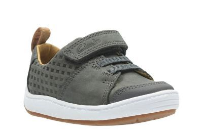 Clarks Maxi Take Fst F Fit Grey first shoes
