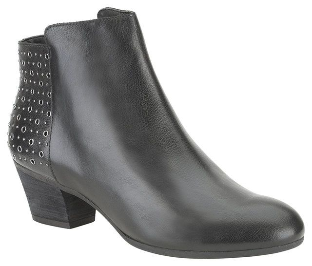 Clarks Melanie Alice D Fit Black ankle boots