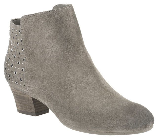 Clarks Melanie Alice D Fit Grey suede ankle boots