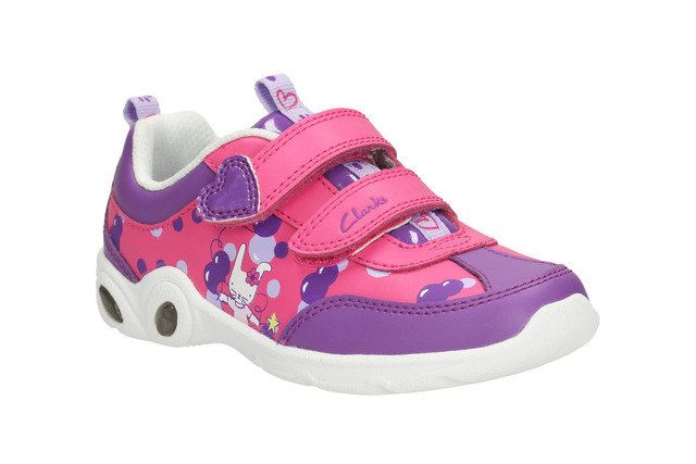 Clarks Mitzyleap Inf G Fit Pink multi trainers