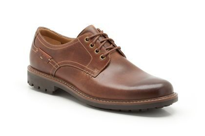 Clarks Montacute Hall G Fit Dark Tan casual shoes