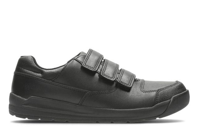Clarks Monte Lite Bl E Fit Black school shoes