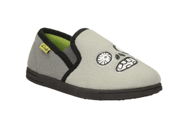 Clarks Movello Rise G Fit Grey slippers