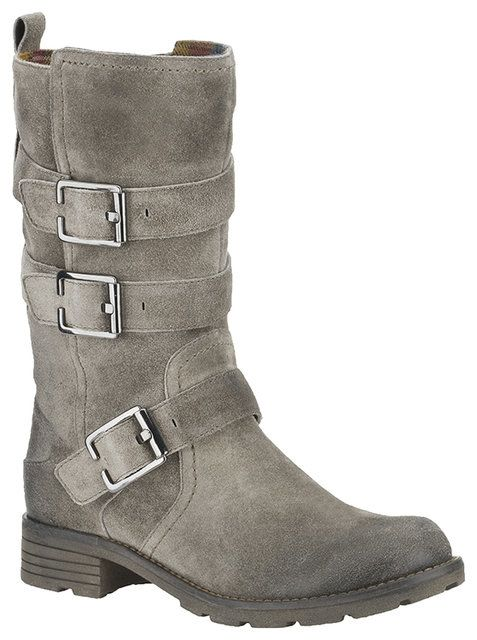 Clarks National Sugar D Fit Grey suede knee-high boots