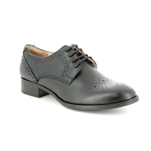 Clarks Brogues - Black leather - 2852/14D NETLEY ROSE