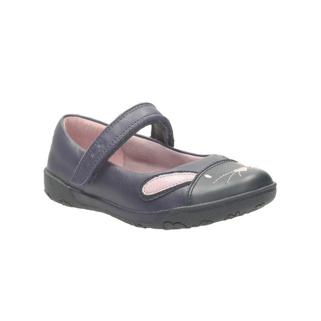 Clarks Nibbles Cutein F Fit Navy everyday shoes