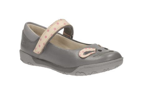 Clarks Nibbles Moe In F Fit Grey everyday shoes