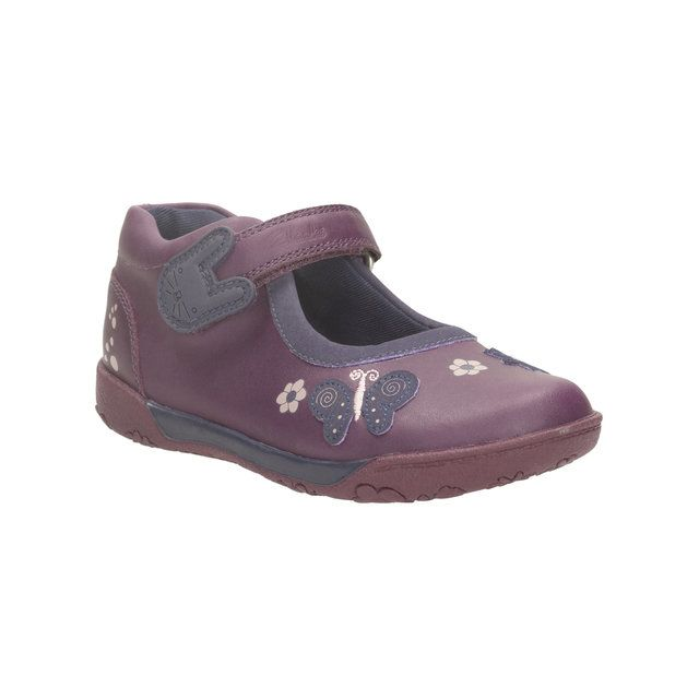 Clarks Nibbles Ria Pr F Fit Purple everyday shoes