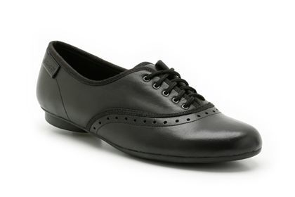Clarks No Oxford Bl F Fit Black school shoes