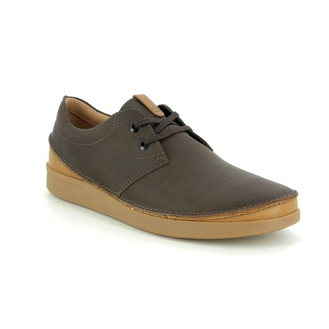 Clarks Casual Shoes - Brown leather - 353937G OAKLAND LACE