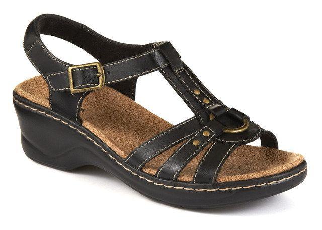 Clarks Odette Sumac D Fit Black sandals