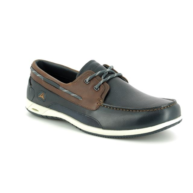 Clarks Loafers - Navy leather - 575837G ORSON HARBOUR