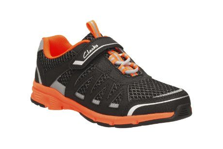 Clarks Pass Fly Inf F Fit Black trainers