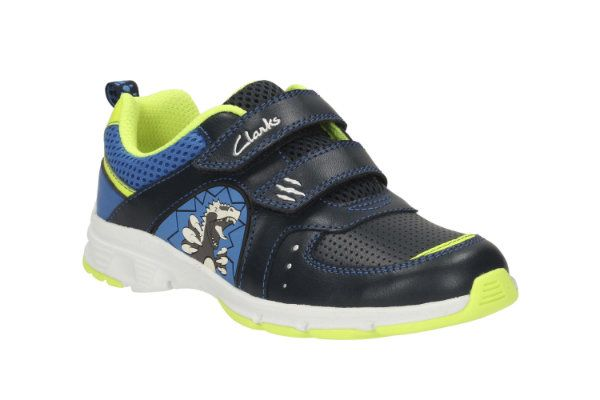Clarks Pass Roar Inf F Fit Navy trainers