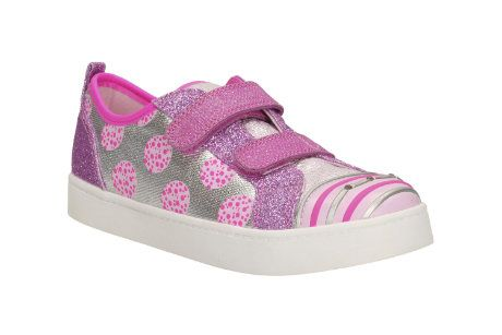 Clarks Pattie Jo Inf G Fit Pink trainers