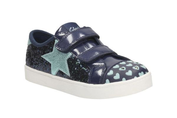 Clarks Pattie May Inf F Fit Blue trainers