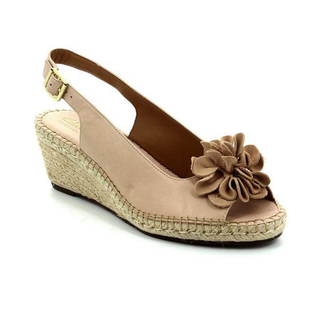 Clarks Wedge Sandals - Nude - 2422/24D PETRINA BIANCA
