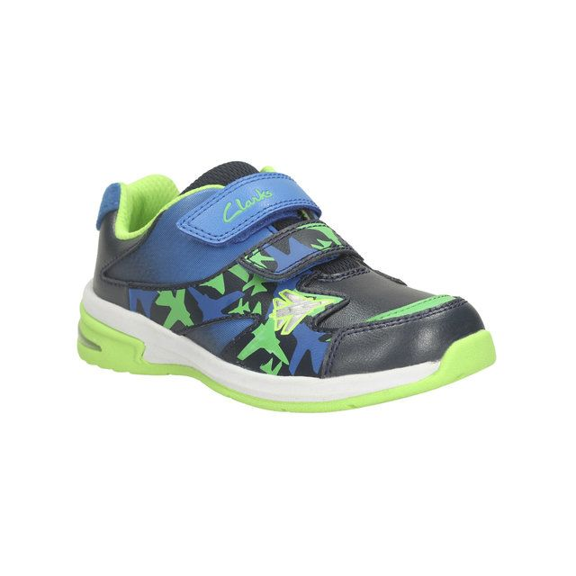 Clarks Piper Fun Inf G Fit Navy trainers