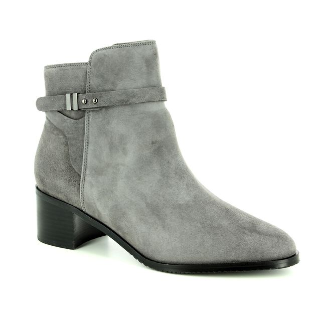 Clarks Poise Freya D Fit Grey suede ankle boots