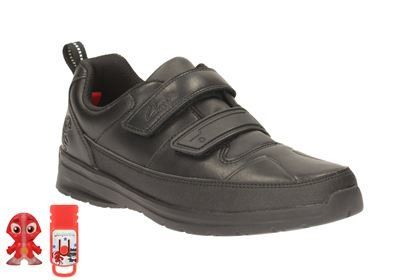 Clarks School Shoes - Black - 1892/85E REFLECTACE JNR