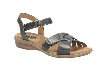 Clarks Reid Laguna D Fit Black sandals