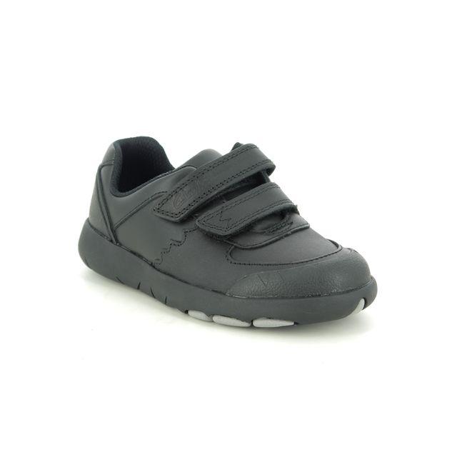 Clarks School Shoes - Black leather - 470456F REX PACE T