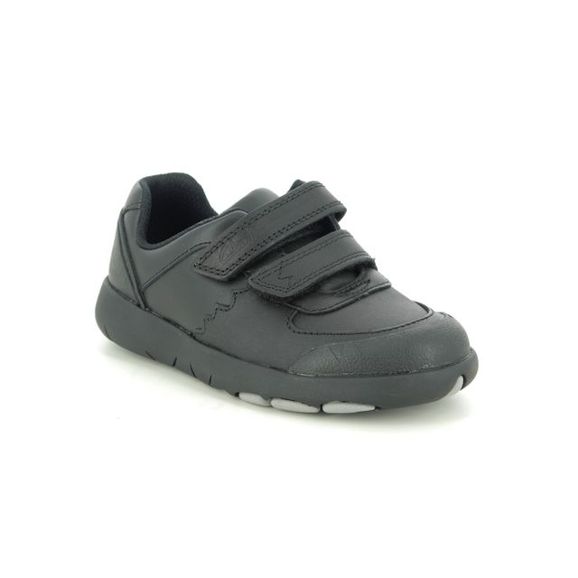 Clarks First Shoes - Black leather - 470457G REX PACE T