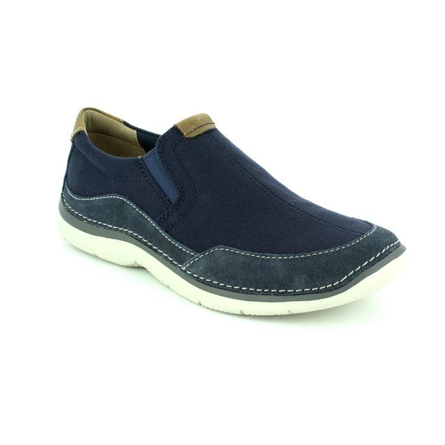 Clarks Ripton Free G Fit Blue trainers