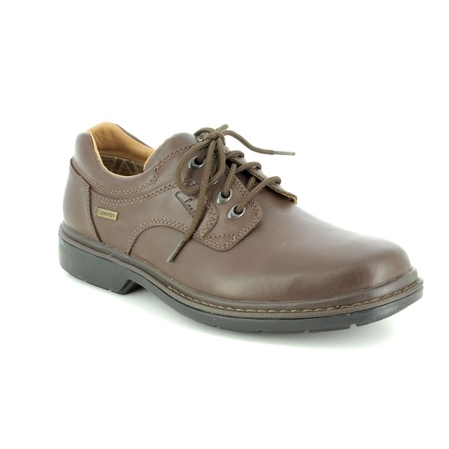 Clarks Rockie Lo GORE-TEX G Fit Brown casual shoes