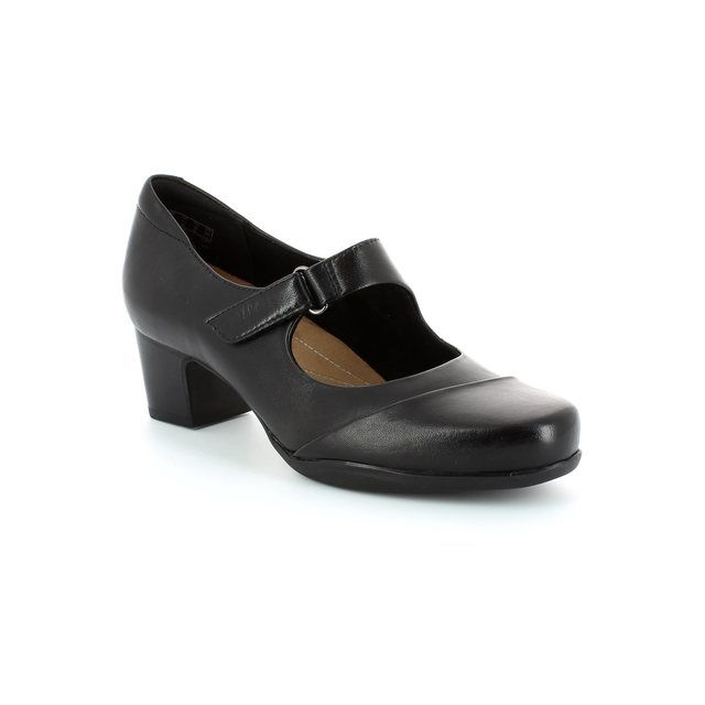 Clarks Rosalyn Wren D Fit Black heeled shoes