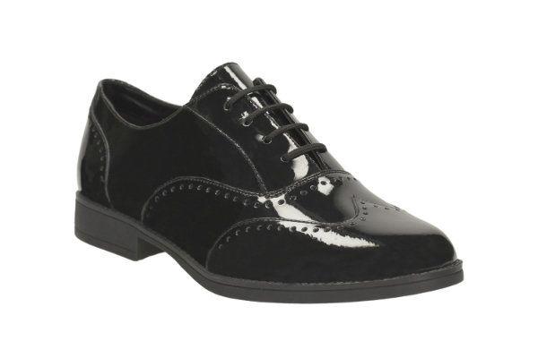 6228087e6271 Clarks School Shoes - Black patent - 1574 16F SAMI FLASH BL