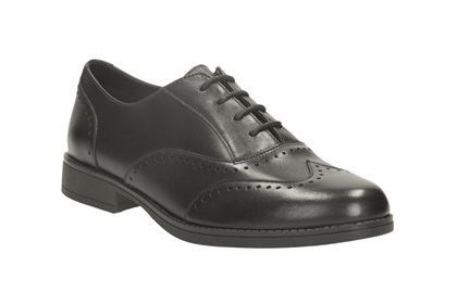 Clarks School Shoes - Black - 0998/06F SAMI FLASH BL