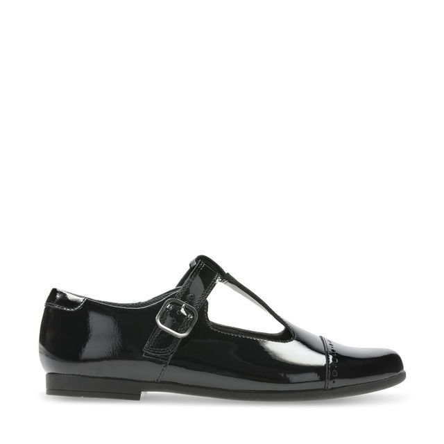 Clarks Scala Hope Y G Fit Black patent