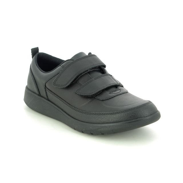 Clarks School Shoes - Black leather - 494096F SCAPE FLARE Y