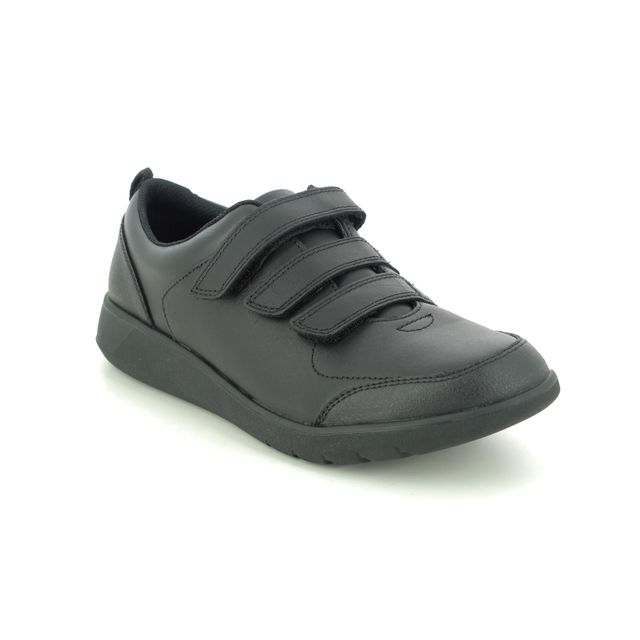 Clarks School Shoes - Black leather - 455817G SCAPE SKY Y
