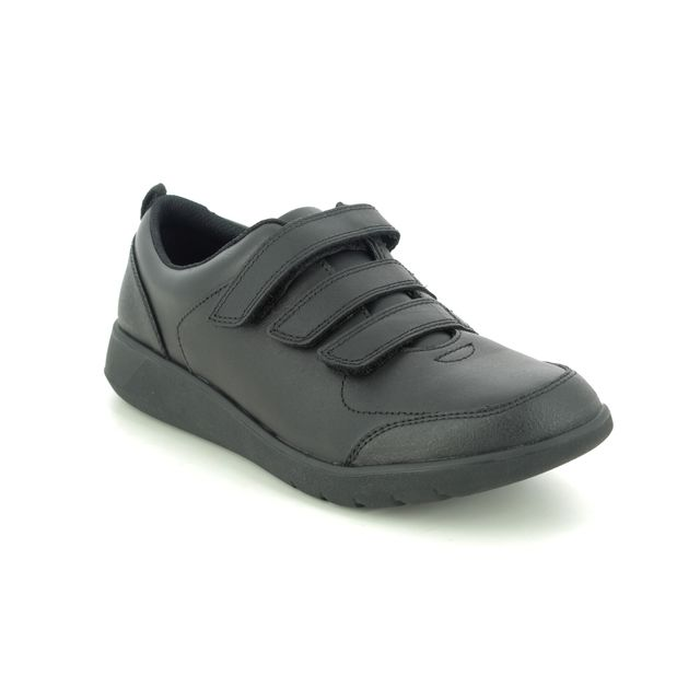 Clarks School Shoes - Black leather - 455818H SCAPE SKY Y