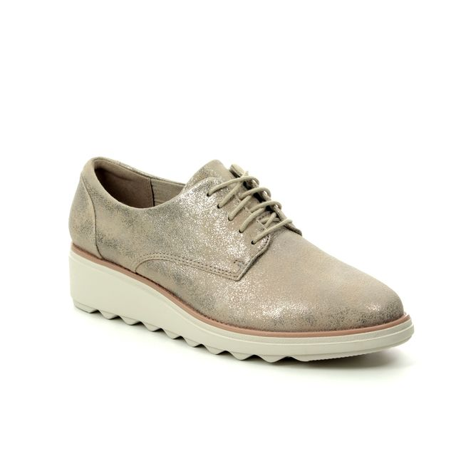 Clarks Brogues - Pewter suede - 400714D SHARON CRYSTAL
