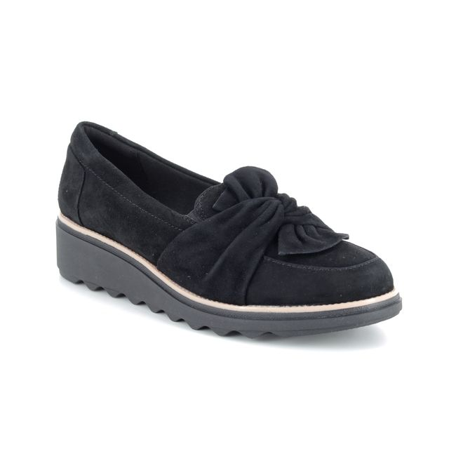 Clarks Loafers - Black suede - 385534D SHARON DASHER