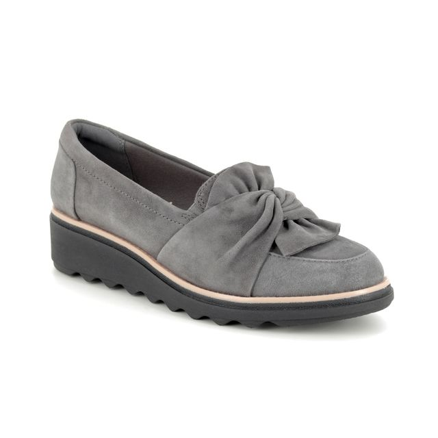 Clarks Loafers - Grey Suede - 389104D SHARON DASHER