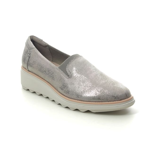 Clarks Wedge Shoes - Pewter - 474804D SHARON DOLLY