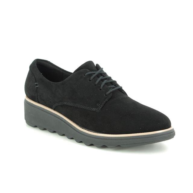 Clarks Lacing Shoes - Black nubuck - 363624D SHARON NOEL