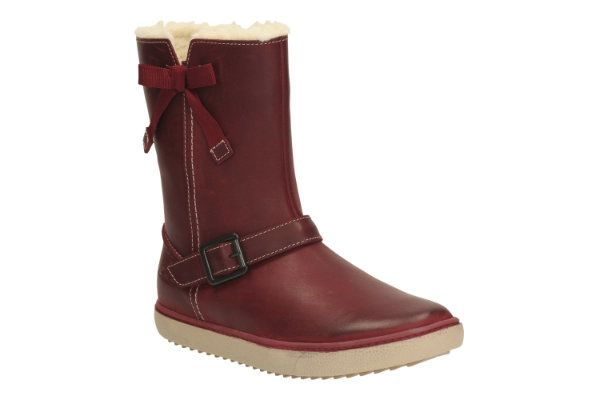 Clarks Shaz Hi Inf F Fit Red boots