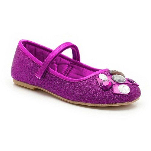 Clarks School Shoes - Purple - 4656/86F SHINY TOES JNR