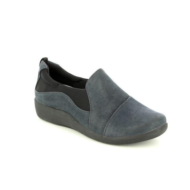 Clarks Comfort Shoes - Navy - 2218/74D SILLIAN PAZ