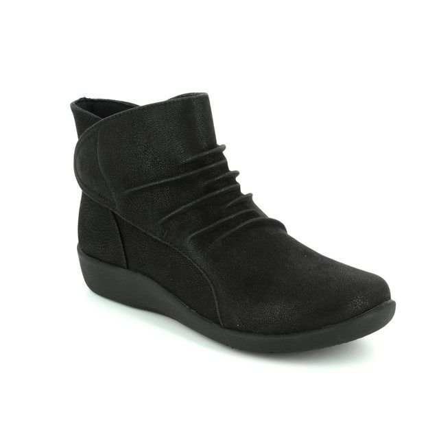 Clarks Ankle Boots - Black - 2255/54D SILLIAN SWAY