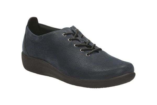 Clarks Sillian Tino D Fit Navy trainers