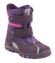 Clarks Snow Girl F Fit Purple boots